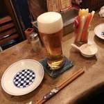 いか玉焼と串カツ マハカラ - 【まずは生ビール】