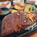 島バーグと島カレー - カナダ産ステーキ