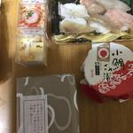 だるま寿司 - スルメイカや甘エビもプリプリが三匹