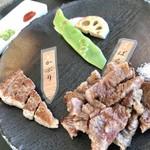 八景 - アーリーアフタヌーン¥2970(税込)…希少部位の鉄板焼き