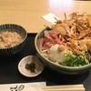 うどん ゆきの - 料理写真:かき揚げ定食(冷)