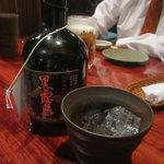 海蔵 - 黒霧島で乾杯!
