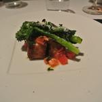 リストランテ カノフィーロ - 宮城産カジキマグロのコトレッタ、フルーツトマトのケッカソース