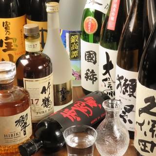 ◆常時20種類以上◆日本各地の地酒や希少なお酒揃ってます。