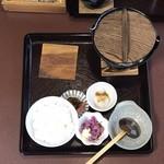 あいかも会館 - 鴨鍋定食 ¥1100
