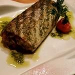 菜な - 太刀魚のエリンギ茸パテ射込みグリル バジルソース