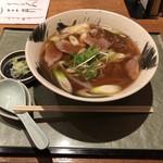 志波田 - 鴨南蛮そば(1,200円税込) 全景