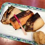 京粕漬 魚久  - あじみせ定食(ぎんだら、さけ、本さわら)