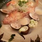 菜な - アラカブと魚介のアクアパッツァ