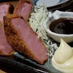 喜口商店 - 厚切りハムカツ(680円)