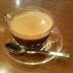1009256 - 食後のコーヒー。透明なカップがナイスです。