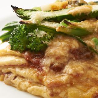 新鮮で旬のお野菜をふんだんに使ったイタリアン