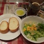100900110 - パン、サラダ、ドリンク