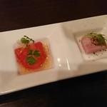 匠のローストビーフ キッチン フォーク - 自家製ハム、甘~いトマト