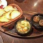 Bar espana carne - バル名物!!温製タパス2種盛り
