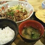 りんご箱 - 十和田バラ焼き定食と ホタテ貝味噌焼き単品でオーダーしました