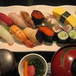 やよい鮨 - ランチ 満腹にぎり定食 1400円