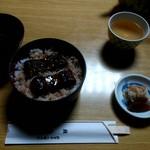 うなぎ料理 鹿六 - 料理写真:うなぎ丼 1400円、肝吸い 200円