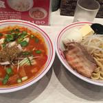 蒙古タンメン中本 - 赤鬼つけ麺、バターチャーシュークーポン玉子