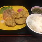 ラーメン道楽 - ブタ天定食690円