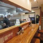 日本橋麺処こはる - 店内カウンター