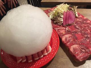 しゃぶしゃぶ 焼肉食べ放題 めり乃 新宿店 - 綿あめ~フォトジェニック