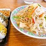佐賀ラーメン 喰道楽 - 料理写真:ちゃんぽん650円+レディースセット150円