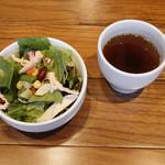 筋肉食堂 - サラダ、スープ