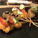 串勝 六角屋 - 料理写真:【一番人気♪創作5種盛り合わせ】六角屋でしか食べられない!