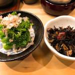 寿し 太一 - 菜の花のおひたしとひじき煮