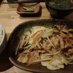 ハルコロ - 日替わりランチ¥650の豚肉ジンギスカン風炒め