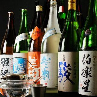 大人気の獺祭含む日本酒30種全70種単品飲み放題1980円