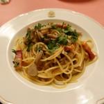 ピッツェリア・サバティーニ - キノコとパンチェッタのペペロンチーノ