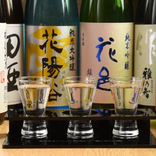 利き酒師が、お料理と相性抜群な日本酒をご提供いたします