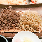 手打蕎麦 まるやま - 料理写真:田舎セイロとせいろの2色