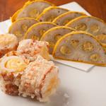 熊本バル うせがたん - 辛子レンコンとちくわサラダ天