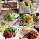 """タイ料理 パヤオ - """"タイ風の蒸し鶏、ポピアソット、ムータクライ、コムヤン、ガパオ ガイ"""""""