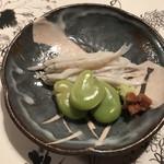 よし川 新別館 - 白魚と空豆