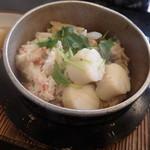 甘味茶屋ぶんご - とり・カニ・ホタテの釜飯