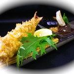 味里 - 大海老と長寿豚の味噌かつ、温野菜添え