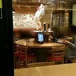 アップカフェ - 羊のでかい人形