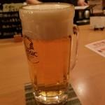 ゆるり家 - ビール 540円