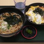 名代 箱根そば - ミニ勝つ丼セット(そば)590円