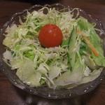 花千鳥 - ホルモン定食(サラダ)