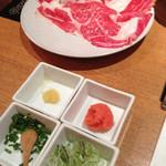 10097608 - 薬味と肉