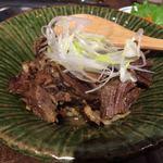 Shinjukuomoideyokochougyuutaniroha - 牛タンの生姜煮 499円。