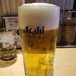 銀座 いし井 - 生ビール(中)2019.1.27