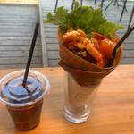 ROCKSIDE MARKET - ガレットセット1000円 栃木の彩り野菜とホエー豚ベーコン アールグレイ