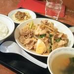 中華風家庭料理 開 - 蓮根と豚肉の辛し醤油炒め850円