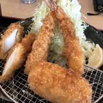 かつきち - 料理写真:海鮮かつミックス定食 1/2